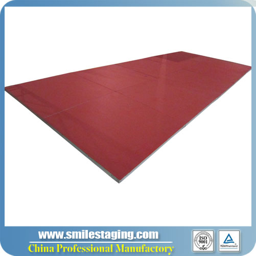 1 x 1m Red Carpet Surface Aluminum Stage Panel Modular