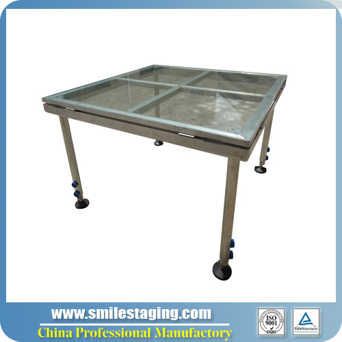 4ft x 4ft Armorplate Glass Stage Platforms