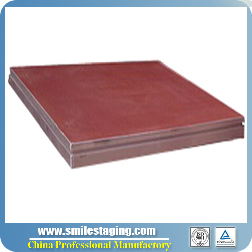 1.22Mx 1.22M (4ft x 4ft) Red Carpet Finish Stage Panel