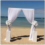 Pipe and Drape Wedding Altar