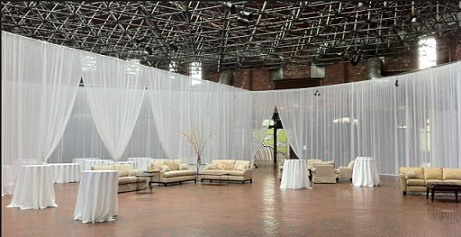 pipe and drape wedding backdrop