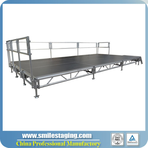 6m x 3m Aluminum Stage Systems With Adjustable Legs
