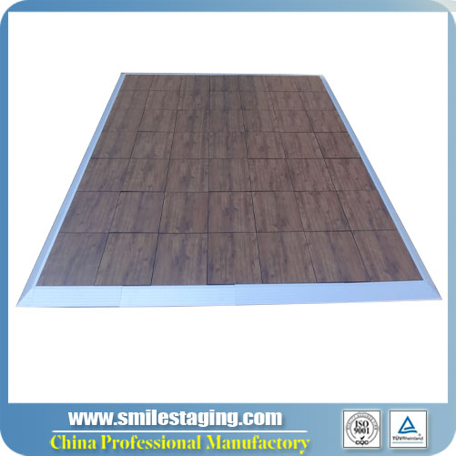 462x462x25mm Grained PVC Dance Floor