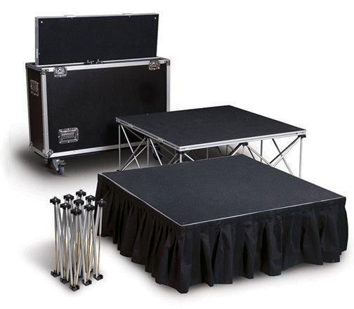 4'x4' Unit-Lightweight Portable Stage Systems