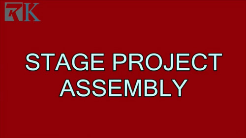 video - portable stage project assembly