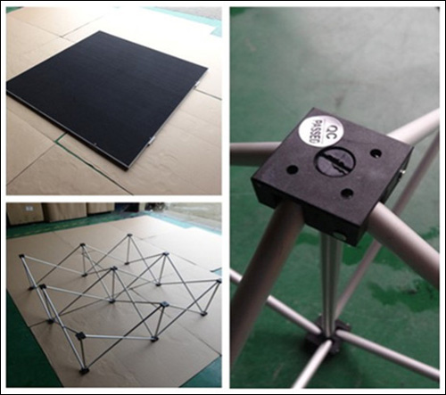 build a sample rectangle shape portable stage
