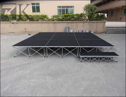 top sale portable drum stage with riser legs