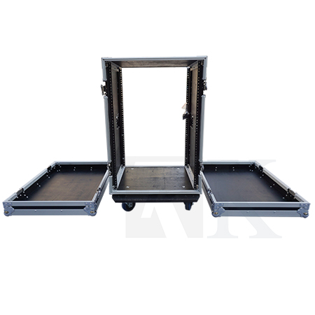 16U Effect Case with Casters-18 inch Body Depth
